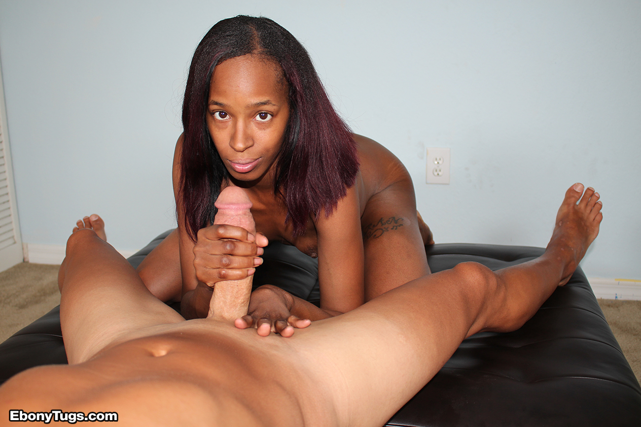 I Love White Cocks - Interracial Hand Jobs  Ebonytugscom-6094